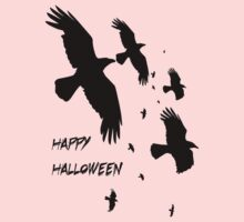Happy Halloween Murder of Crows One Piece - Long Sleeve