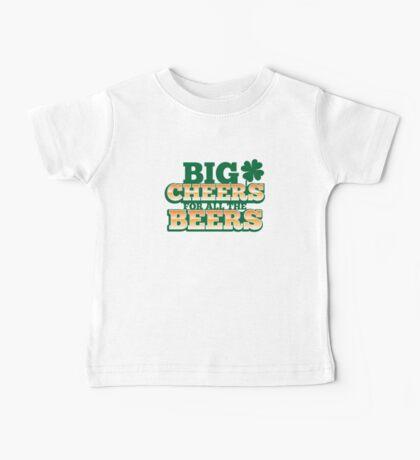 BIG CHEERS FOR ALL THE BEERS! IRISH beer shop design Baby Tee