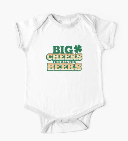 BIG CHEERS FOR ALL THE BEERS! IRISH beer shop design One Piece - Short Sleeve