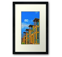 Apartment Buildings in Northwest Washington Framed Print