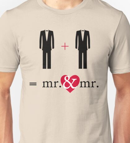 """Mr. & Mr. """"Do the Math"""" Unisex T-Shirt"""