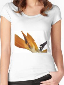 Bird of Paradise Macro Women's Fitted Scoop T-Shirt