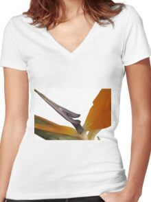 Bird of Paradise Women's Fitted V-Neck T-Shirt