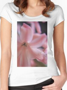 Hyacinth Macro 2 Women's Fitted Scoop T-Shirt