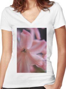 Hyacinth Macro 2 Women's Fitted V-Neck T-Shirt