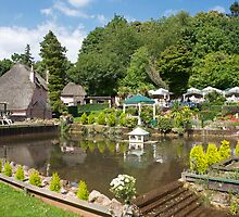 An English country garden. by Keith Larby