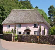 Rose cottage in Cockington Devon. by Keith Larby