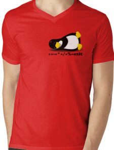 LINUX TUX THE PENGUIN Mens V-Neck T-Shirt