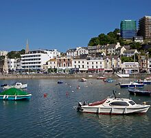 Torquay Harbour in Devon. by Keith Larby