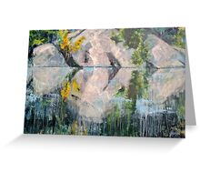 "Crying Rocks 40"" x 60"" acrylic on canvas Greeting Card"