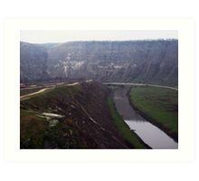 river valley from the cliff. Art Print