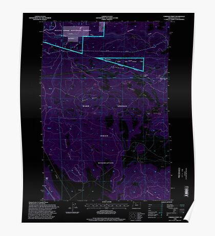 USGS Topo Map Oregon Foreman Point 279918 1996 24000 Inverted Poster