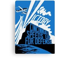 Cincinnati Speeds Up For Defense -- WW2 Poster Canvas Print