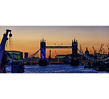 The Opening of Tower Bridge at Sunset on 30th September 2015 Photographic Print