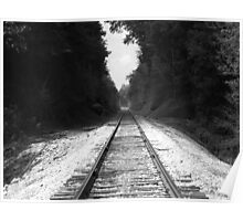train tracks to the past Poster