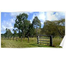 The Aussie farm fence Poster