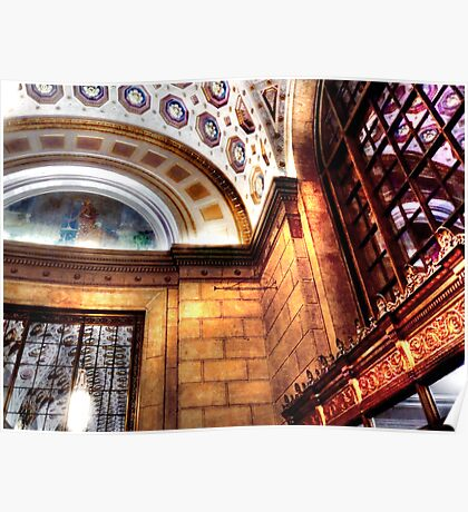 Ceiling of the Terminal Tower Poster