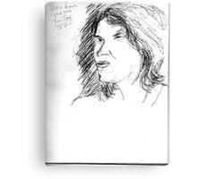 Tracy Emin on YouTube -(250711)- Biro pen/black ink Canvas Print