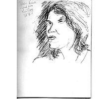 Tracy Emin on YouTube -(250711)- Biro pen/black ink Photographic Print