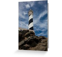 Lighthouse in Minorca Greeting Card