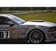 Silver Race Car! Photographic Print