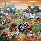 harvest in the Balkan village by artistelena