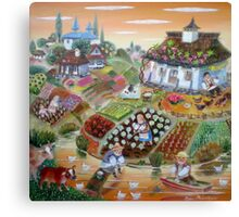 harvest in the Balkan village Canvas Print