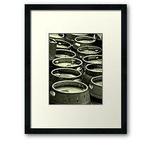 Bays Brewery Barrels Framed Print