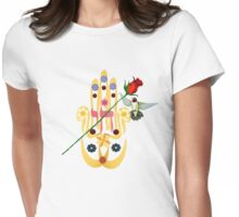 Hamsa and Flowers Womens Fitted T-Shirt