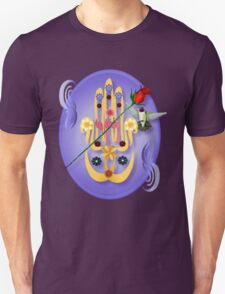 Hamsa and Flowers Oval T-Shirt