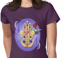 Hamsa and Flowers Oval Womens Fitted T-Shirt