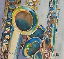 Saxy Trio by JennyArmitage