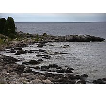 Blue Skies and Rocky Shores Photographic Print