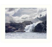Ocean Waterfall Art Print