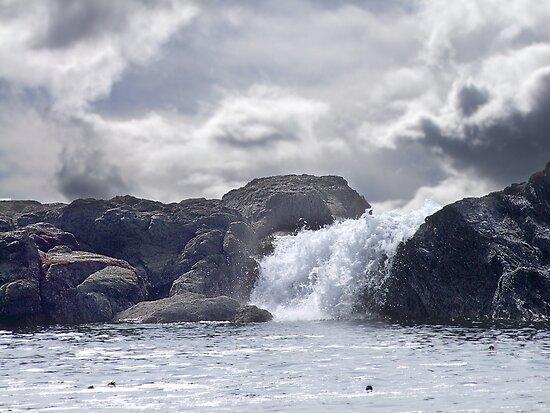 Ocean Waterfall by George Cousins