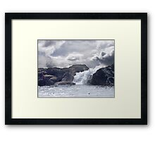 Ocean Waterfall Framed Print