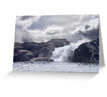 Ocean Waterfall Greeting Card