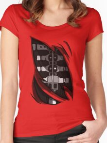 Five Nights at Freddy's Foxy's Endoskeleton, Great for cosplay! Women's Fitted Scoop T-Shirt