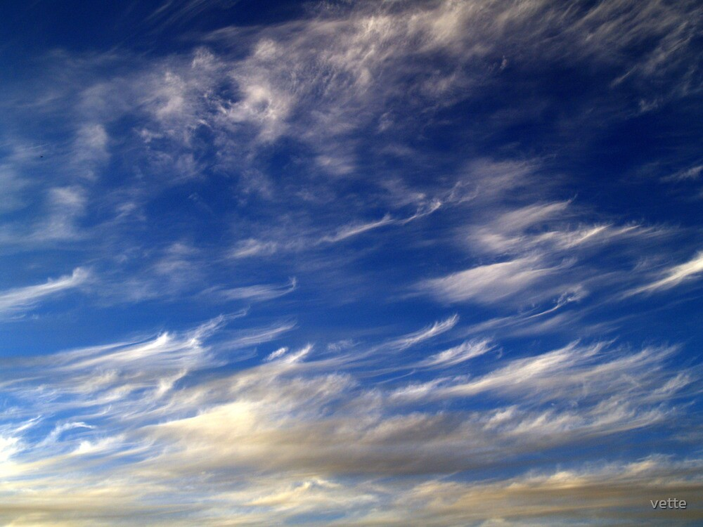 Clouds with a difference by vette