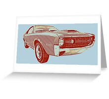 Vintage 1970s Car Greeting Card