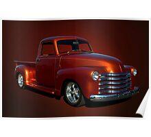 1952 Chevrolet Custom Pickup Poster
