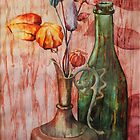 Genie Lamp Still Life Painting by RebeccaSpragge
