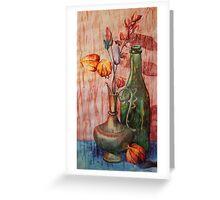 Genie Lamp Still Life Painting Greeting Card