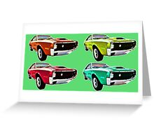 Vintage 1970s psychedelia Muscle Cars  Greeting Card