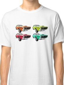 Vintage 1970s psychedelia Muscle Cars  Classic T-Shirt