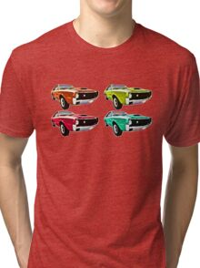 Vintage 1970s psychedelia Muscle Cars  Tri-blend T-Shirt