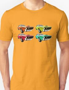 Vintage 1970s psychedelia Muscle Cars  T-Shirt