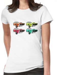 Vintage 1970s psychedelia Muscle Cars  Womens Fitted T-Shirt