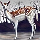 Deer in the forest by LauraMSS