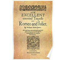 Shakespeare, Romeo and Juliet 1597 Poster